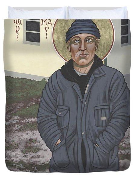 Holy World Evangelist Thomas Merton 267 Duvet Cover