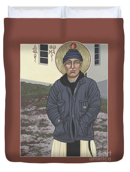 Holy World Evangelist Thomas Merton 267 Duvet Cover
