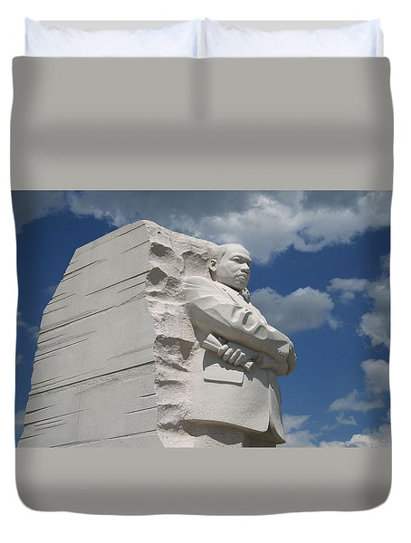 Duvet Cover featuring the photograph Honoring Martin Luther King by Cora Wandel