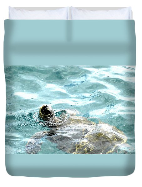 Kamakahonu, The Eye Of The Honu  Duvet Cover