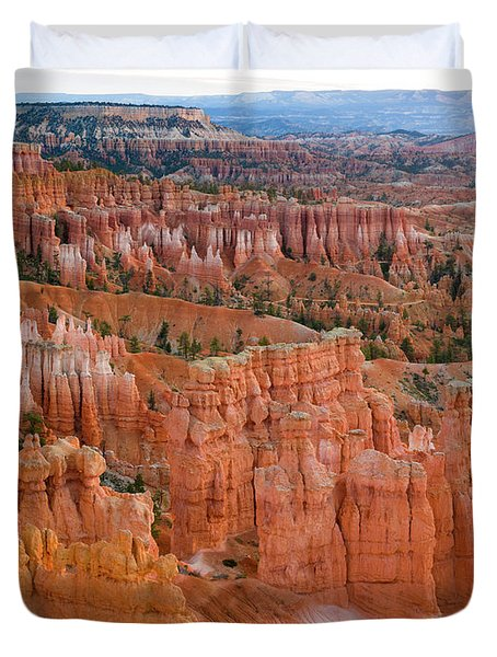 Hoodoo Rock Formations In A Canyon Duvet Cover