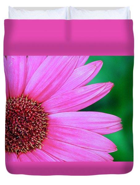 Pink Gerbera Flower Duvet Cover