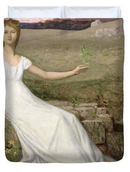Hope Duvet Cover by Pierre Puvis de Chavannes
