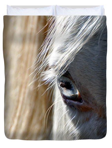 Horse Eye Duvet Cover by Savannah Gibbs