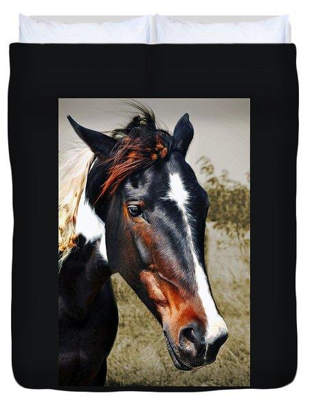 Duvet Cover featuring the photograph Horse by Savannah Gibbs