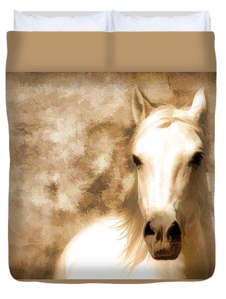 Horse Whisper Duvet Cover by Athena Mckinzie