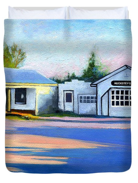 Huckstep's Garage Free Union Virginia Duvet Cover