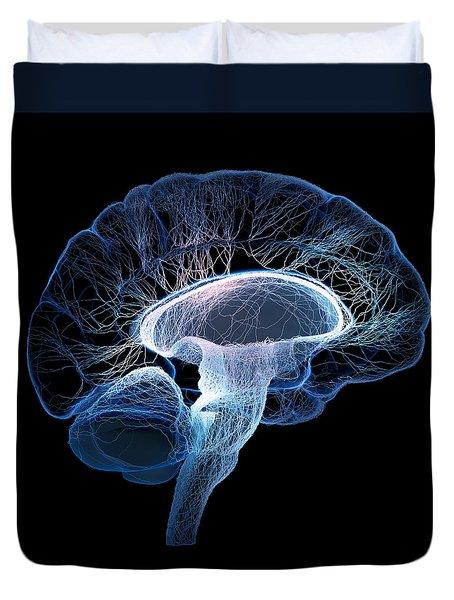 Human Brain Complexity Duvet Cover