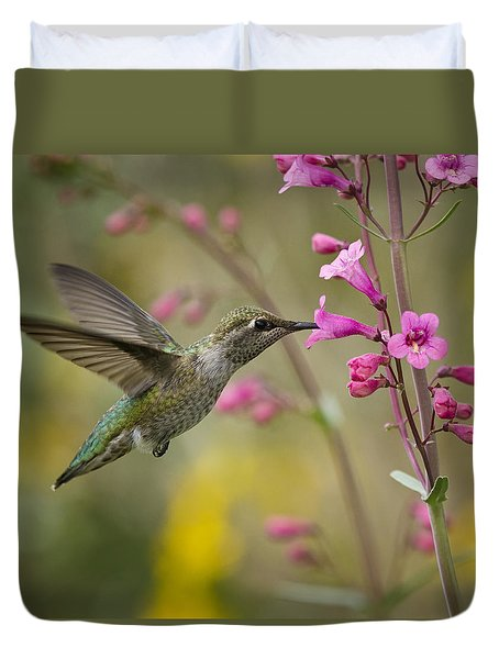 Hummingbird Heaven  Duvet Cover by Saija  Lehtonen