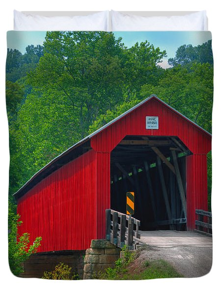 Hune Covered Bridge Duvet Cover