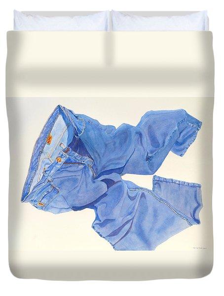 I Love My Jeans       Duvet Cover by Mary Ellen Mueller Legault
