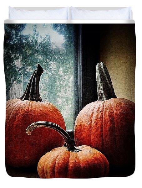 I Love Pumpkins Duvet Cover