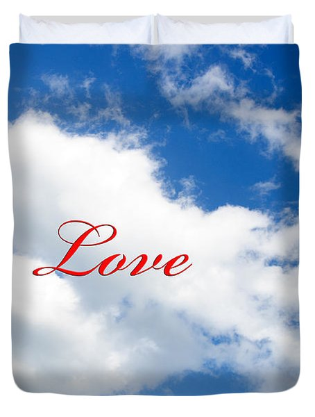 1 I Love You Heart Cloud Duvet Cover