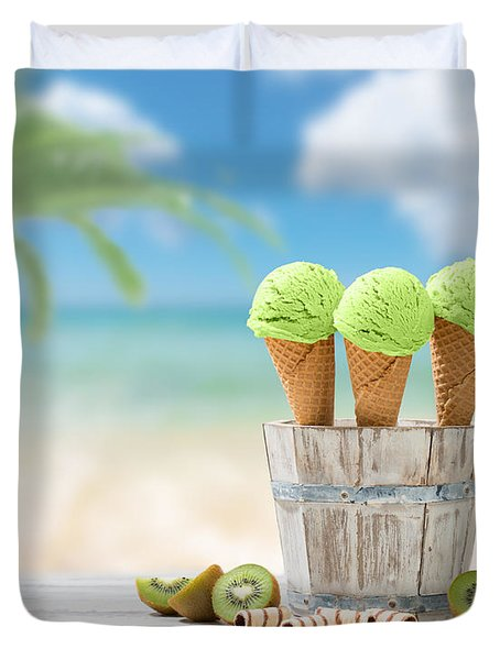 Ice Creams  Duvet Cover by Amanda Elwell
