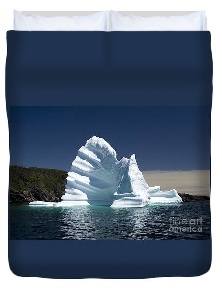 Duvet Cover featuring the photograph Iceberg by Liz Leyden