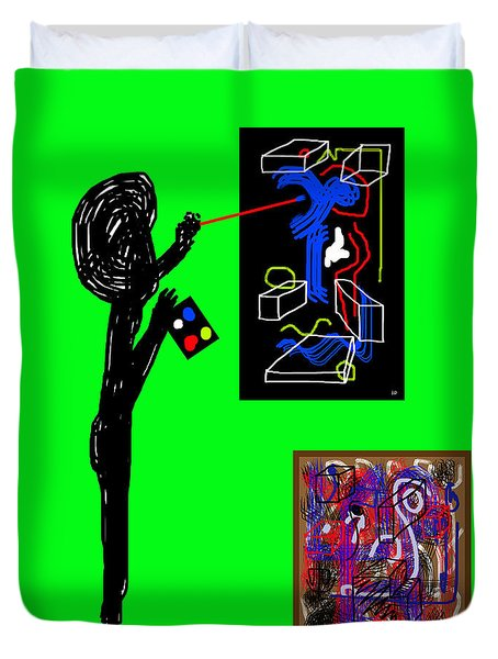 In His Elements Duvet Cover by Sir Josef - Social Critic - ART