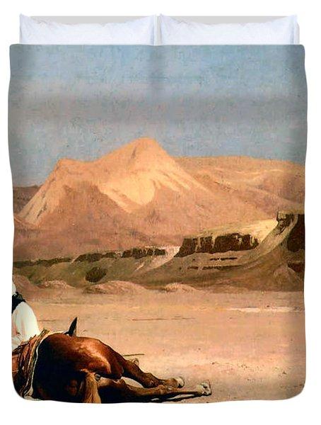 In The Desert Duvet Cover by Jean-Leon Gerome