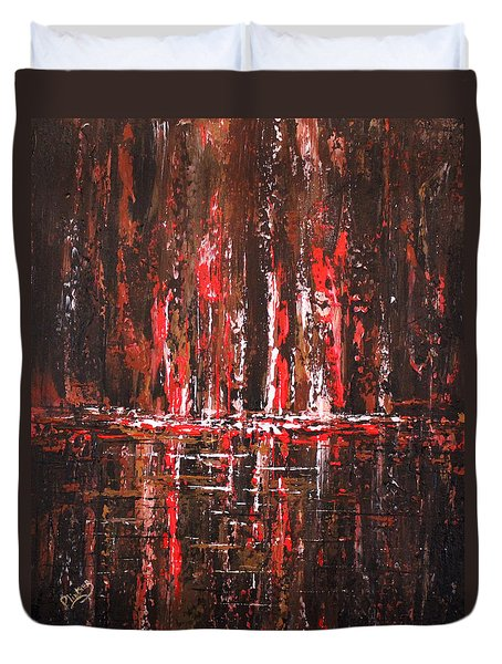 Duvet Cover featuring the painting In The Heat Of The Night by Patricia Lintner