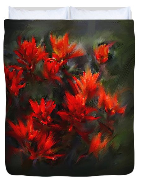 Indian Paintbrush Duvet Cover