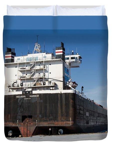 Indiana Harbor 4 Duvet Cover by Susan  McMenamin