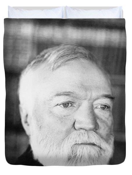 Industrialist Andrew Carnegie Duvet Cover