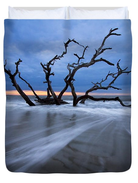 Into The Blue Duvet Cover by Debra and Dave Vanderlaan