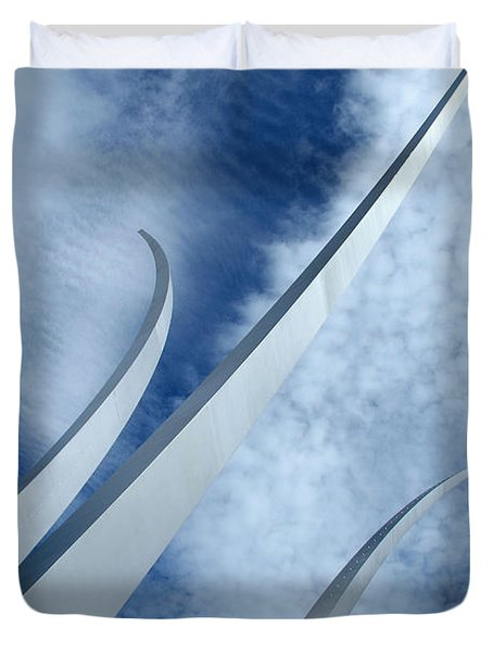 Duvet Cover featuring the photograph Into The Clouds by Cora Wandel