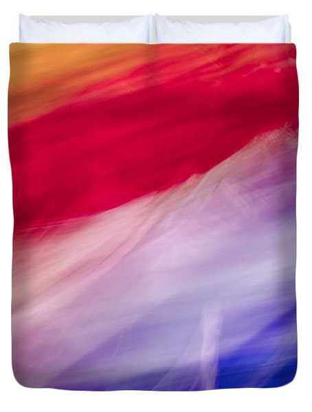 Is It The Flag Duvet Cover by Jon Glaser