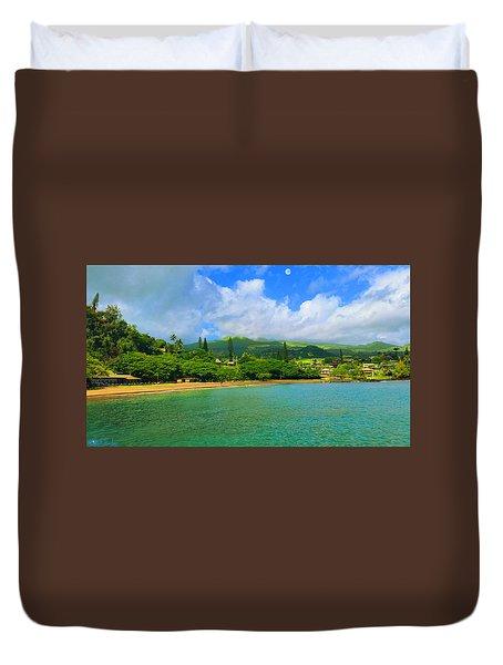 Island Of Maui Duvet Cover