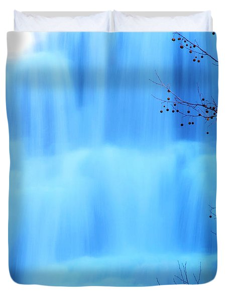 Ithaca Water Falls New York  Duvet Cover by Paul Ge