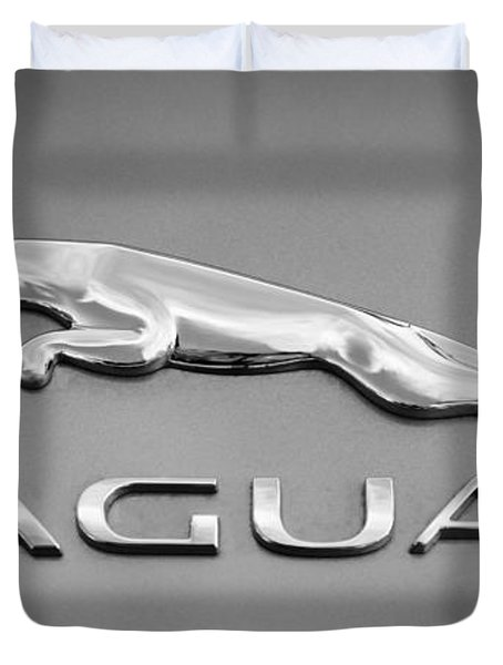 Jaguar F Type Emblem Duvet Cover