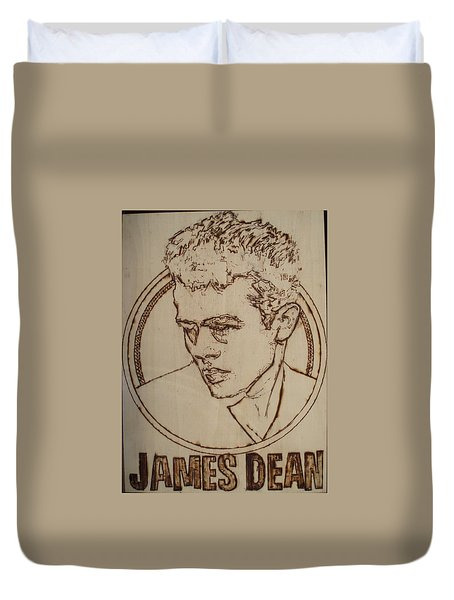 James Dean Duvet Cover by Sean Connolly