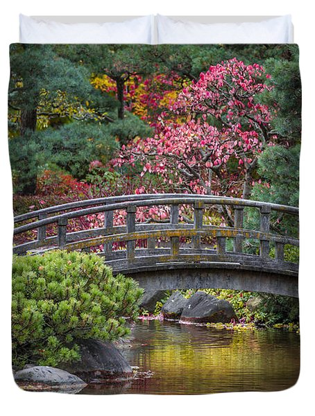 Duvet Cover featuring the photograph Japanese Bridge by Sebastian Musial