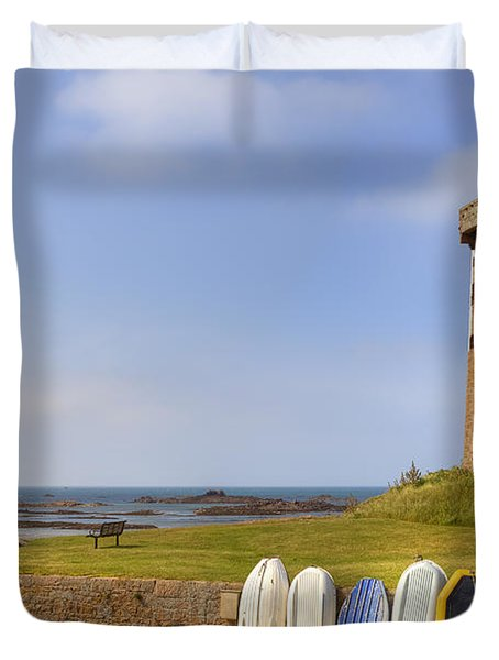 Jersey - Le Hocq Duvet Cover by Joana Kruse
