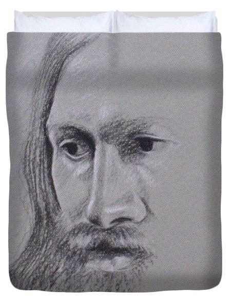 Jesus Duvet Cover by Kathy Weidner