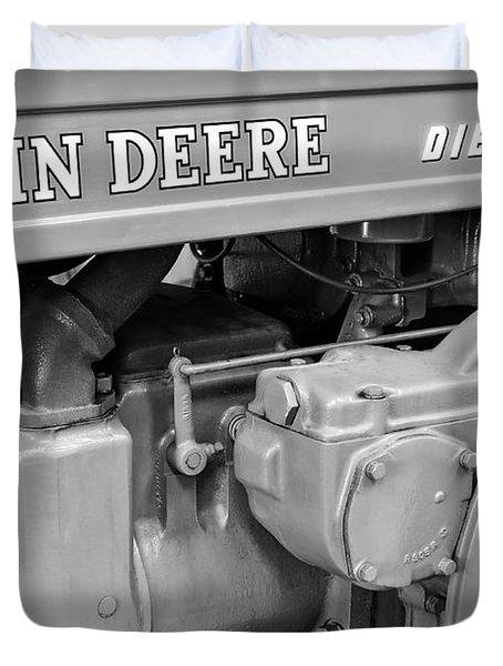 John Deere Diesel Duvet Cover by Susan Candelario