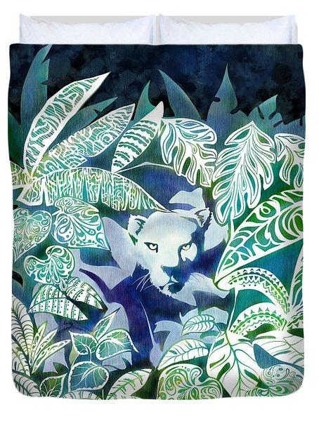 Jungle Jaguar  Duvet Cover