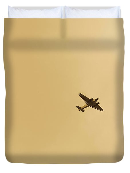 Junkers Ju 52 Aircraft Flying Duvet Cover