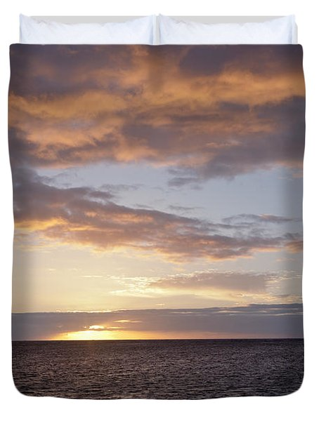 Kailua Sunset Duvet Cover by Brandon Tabiolo