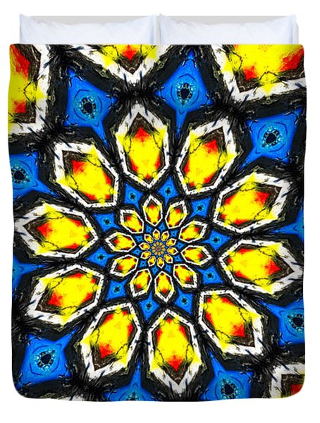 Kaleidoscope Of Primary Colors Duvet Cover