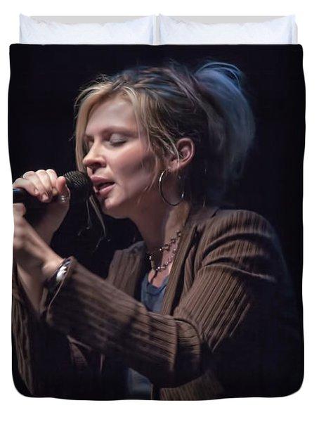 Karin Bergquist Lead Singer Of Over The Rhine Duvet Cover