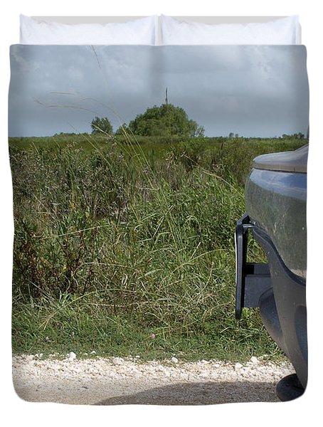 Killdeer Defending Nest Duvet Cover
