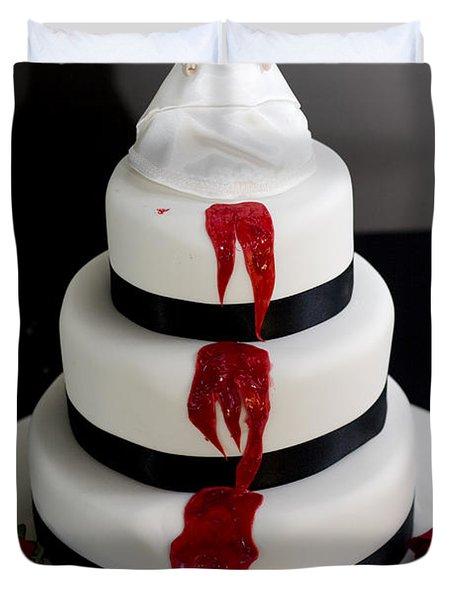Killer Bride Wedding Cake Duvet Cover