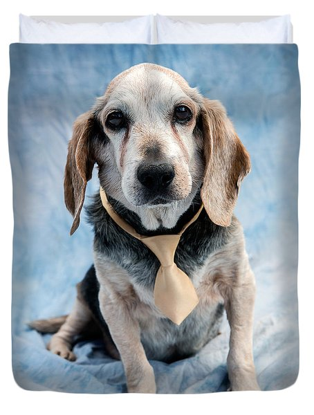 Kippy Beagle Senior And Best Dog Ever Duvet Cover