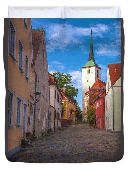 Klostergasse Vilseck Duvet Cover