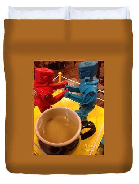 Duvet Cover featuring the photograph New Orlans Knock M Sock M Cafe Au Lait by Michael Hoard