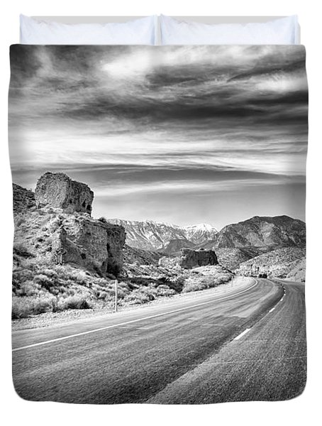 Duvet Cover featuring the photograph Kyle Canyon Road by Howard Salmon