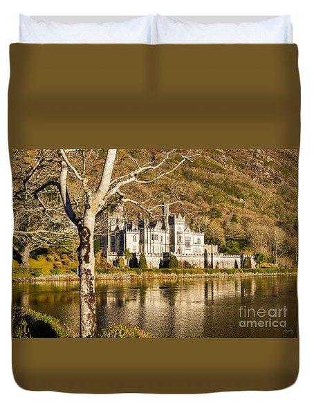 Kylemore Abbey In Winter Duvet Cover