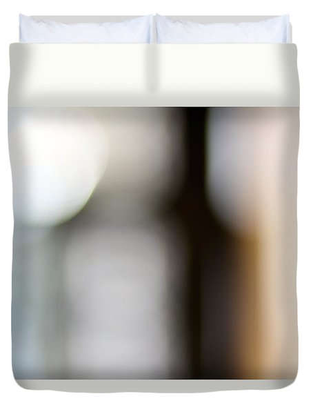Duvet Cover featuring the photograph La Porte by Danica Radman
