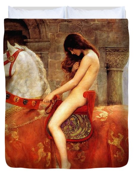 Lady Godiva Duvet Cover by John Collier